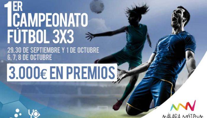El I Campeonato de fútbol 3x3 llega a Málaga Nostrum