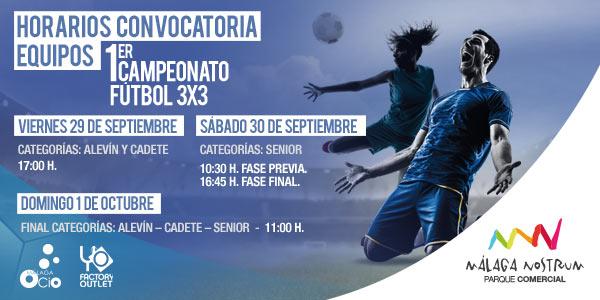 Calendario I Torneo de fútbol Málaga Nostrum