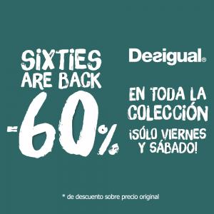 Desigual Descuento -60% en toda la colección
