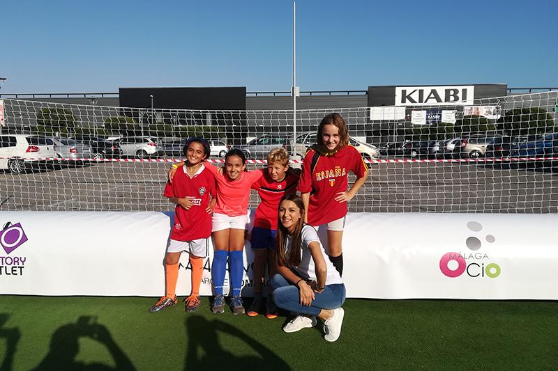Equipo de chicas, fotos torneo de fútbol 3x3 Málaga Nostrum
