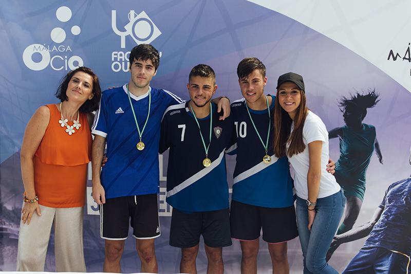 Finalistas Senior, fotos torneo fútbol 3x3 málaga nostrum