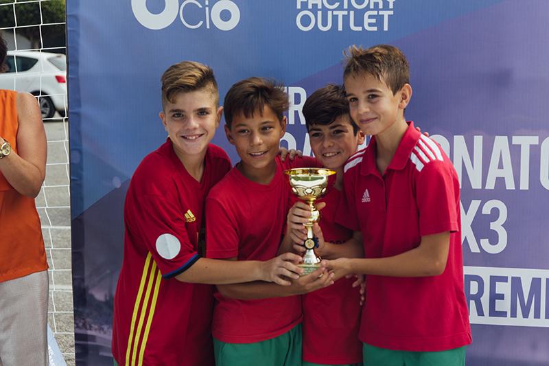 Los ganadores Alevín, fotos torneo fútbol 3x3 málaga nostrum