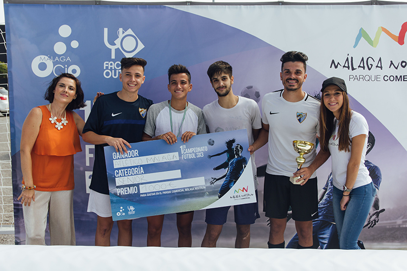 Ganadores Senior, fotos torneo fútbol 3x3 málaga nostrum