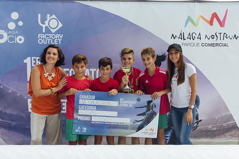Ganadores Alevín, fotos torneo fútbol 3x3 málaga nostrum