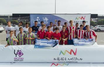 Ganadores, fotos del Torneo de fútbol 3x3 málaga Nostrum
