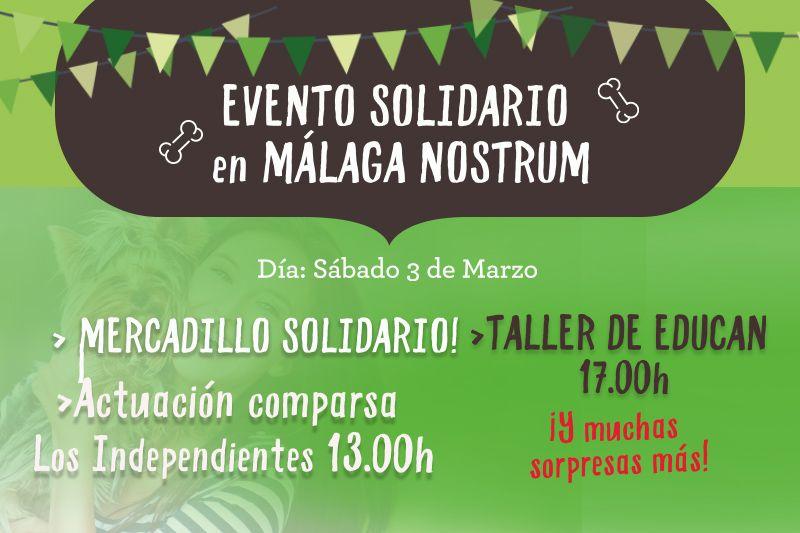 El próximo sábado 3 de marzo tiendanimal celebra un mercadillo solidario en Málaga Nostrum
