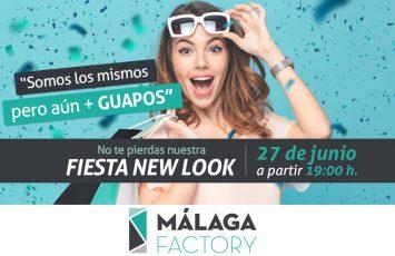 ven a celebrar el miércoles 27 de junio la nueva imagen de Málaga Factory